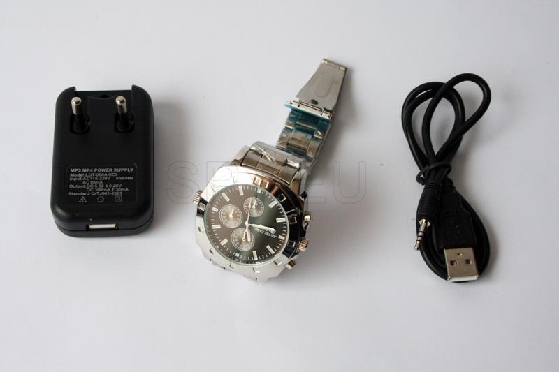 Câmera escondida em relógio de pulso elegante – 4GB