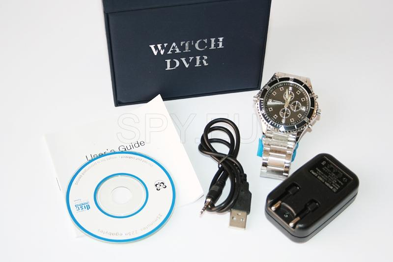 Camera with a motion detector hidden in a wristwatch - 4GB