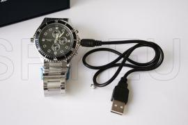 Câmera com detector  de movimento escondida em relógio de pulso - 4GB