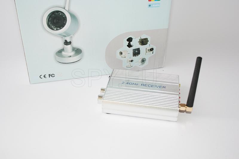 Conjunto de câmera sem fios de 2,4 GHz e receptor