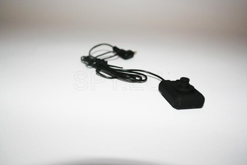 DVR, mini câmera e controle remoto