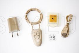 Комплект микрослушалка с телесен цвят и bluetooth приемник