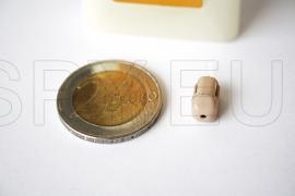 Micro-auricular cor da pele e colar com amplificador