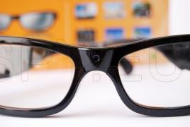 Hidden camera in glasses