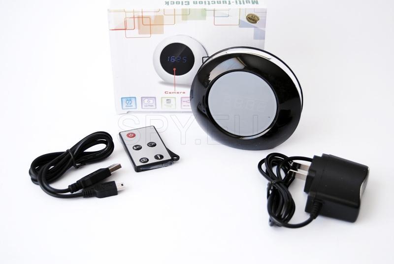 Electronic alarm clock with camera