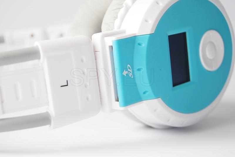 Fones de ouvido com rádio e leitor de MP3