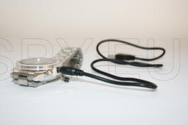 USB Rechargeable AV 300KP Pinhole Spy Camera Hidden in Working Steel Wristwatch (4GB)