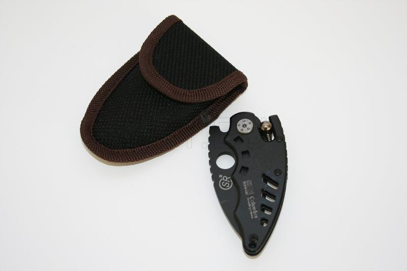 N05 - Manual-Release Folding Knife with Pouch (14.4cm Full-Length)