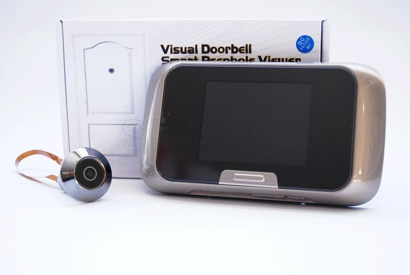 Door peephole with memory card