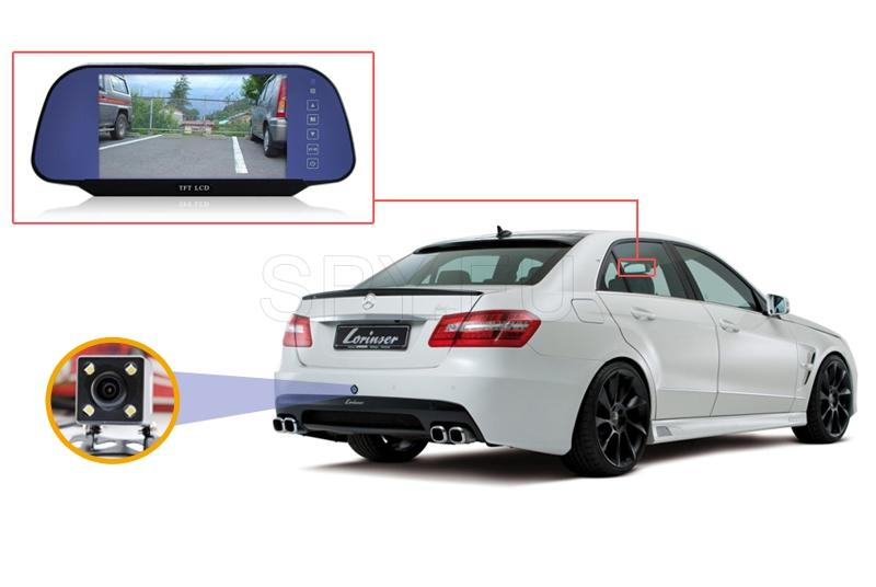 Parking camera with mirror-display