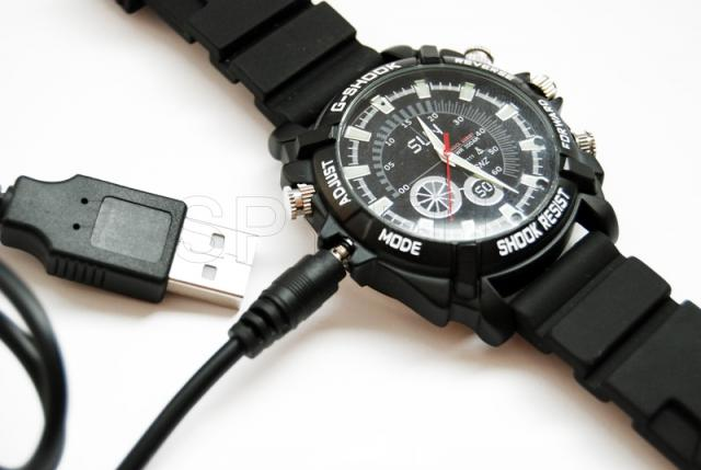 Waterproof watch with with Full HD camera
