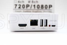 HD network recorder for eight channels