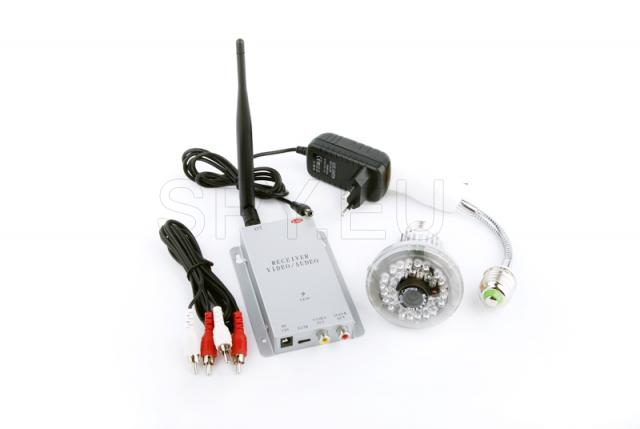 Set wireless camera in electric lamp and receiver