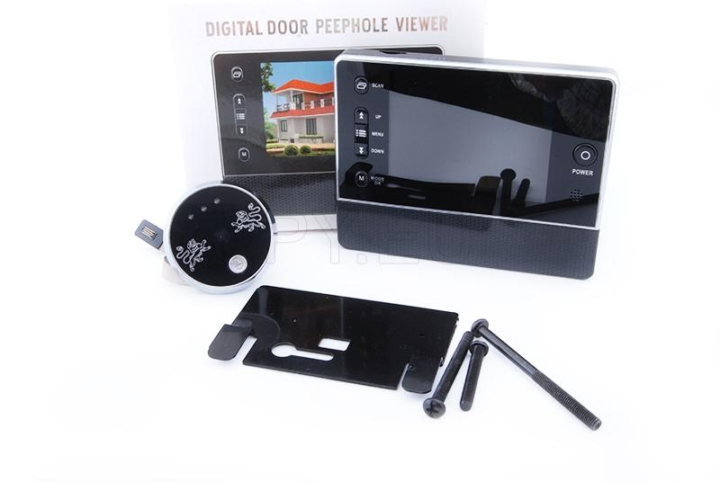 Door peephole with LCD display