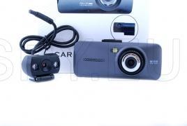 Videoregistrator cu doua camere si unghi larg