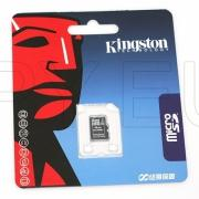 D03 - Kingston 4GB MicroSD (SDHC) Memory Card With Adapter