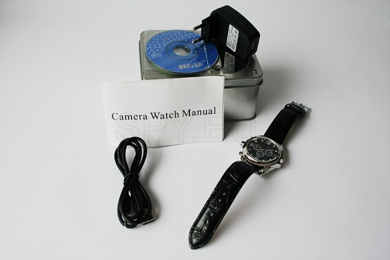 Câmera escondida em relógio de pulso – 4GB