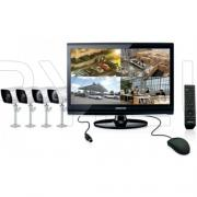 Комплект 4 камери, DVR и LCD монитор - SAMSUNG