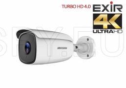 HD-TVI куполна камера 3.6 мм, 8MP - 4K HIKVISION