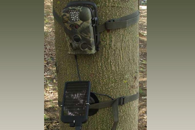 Battery with a solar panel for hunting camera HD49