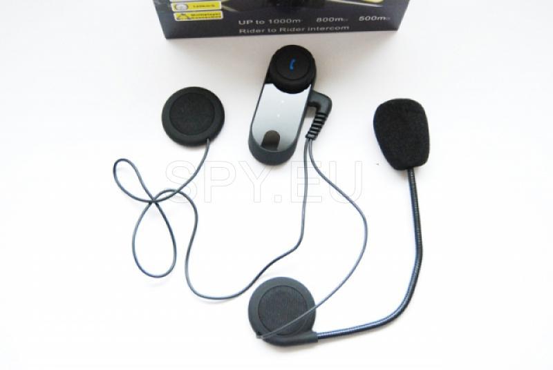 Bluetooth receiver and intercom for helmet
