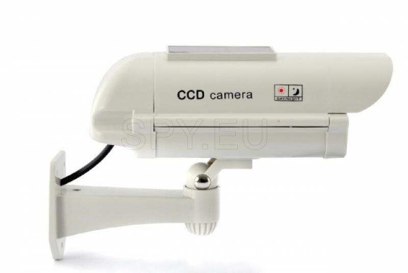 Fake camera with solar panel