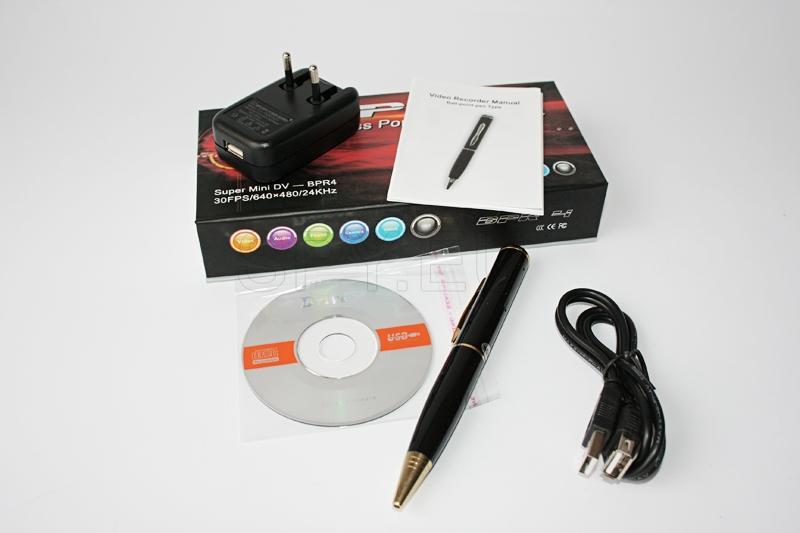 Camera and audio recorder pen - 8 GB