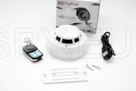 High resolution camera in a smoke detector