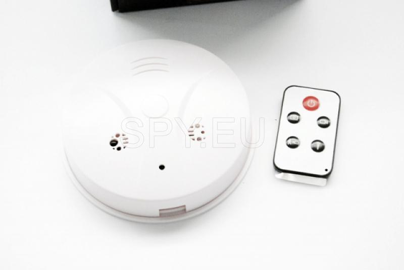 Camera hidden in a smoke detector