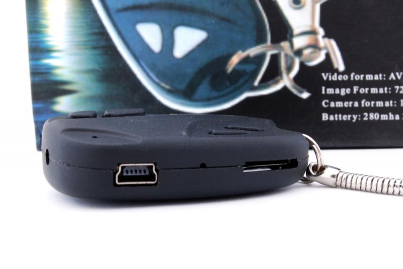 Hidden camera in car alarm remote control
