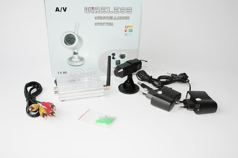Wireless camera 2.4 GHz with receiver kit