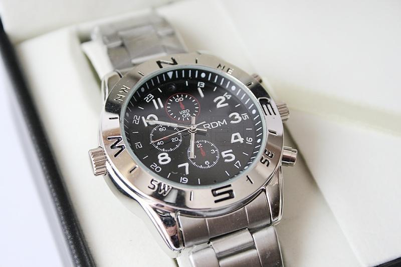 Camera hidden in a wrist watch