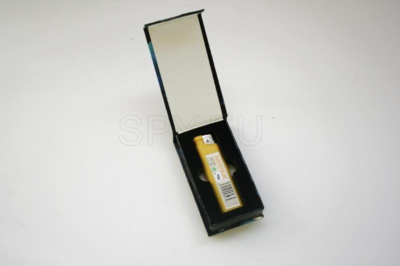 USB Rechargeable 300KP VGA-Quality Pin-hole Spy AV Camera + USB Drive Disguised as Lighter (4GB)