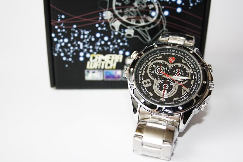 Waterproof watch camera voice activated