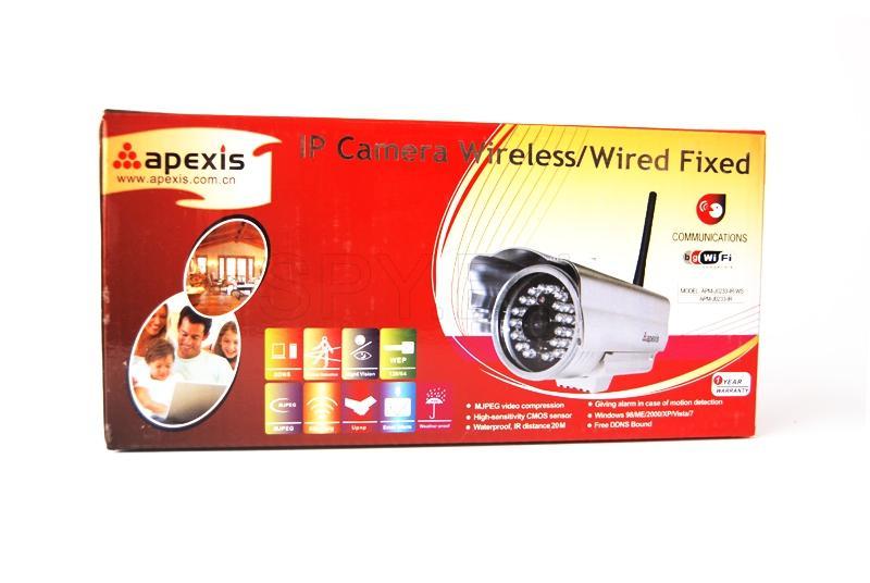 IP camera for outdoor installation