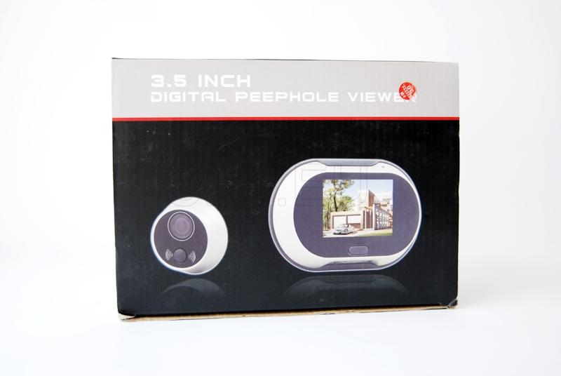 Door peephole with a large screen