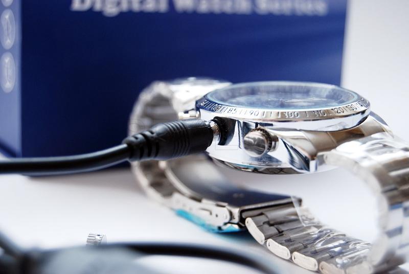 Wrist watch with a hidden camera