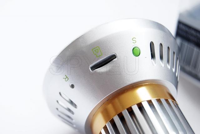 Camera in a light bulb