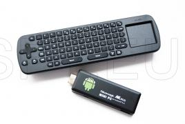 Mini clavier sans fil + Mini PC TV mini-ordinateur