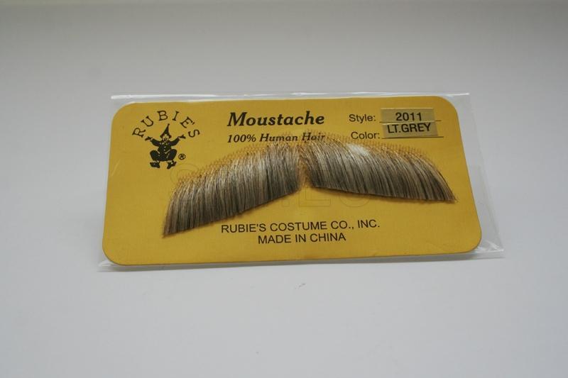 Gentleman's Moustache- Light Grey