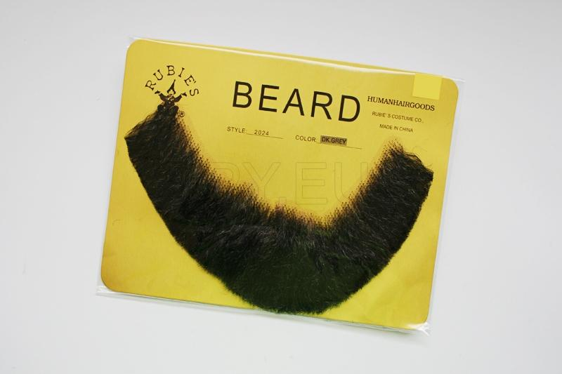FB-DG - Full, Human Beard (Dark Grey)