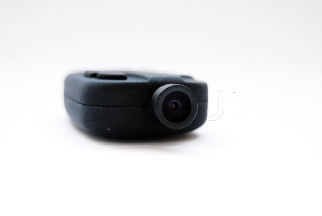Camera in remote with wide angle lens