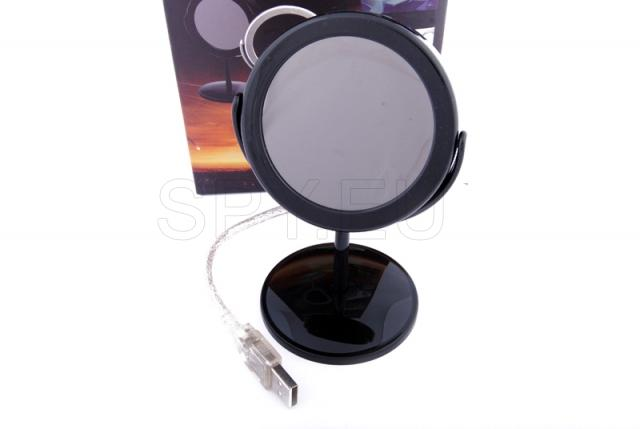 Hidden camera in imitation of cosmetic mirror