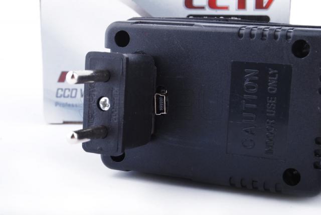 Camera hidden in the power supply adapter