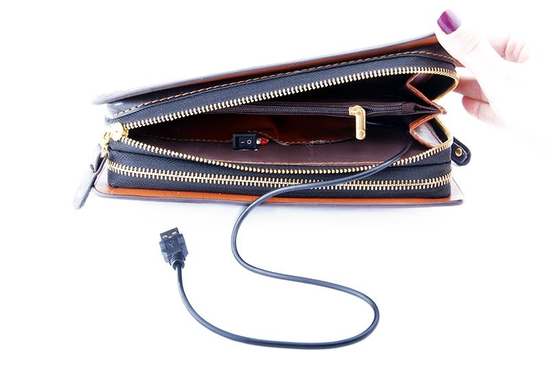Camera hidden in a wallet-organizer
