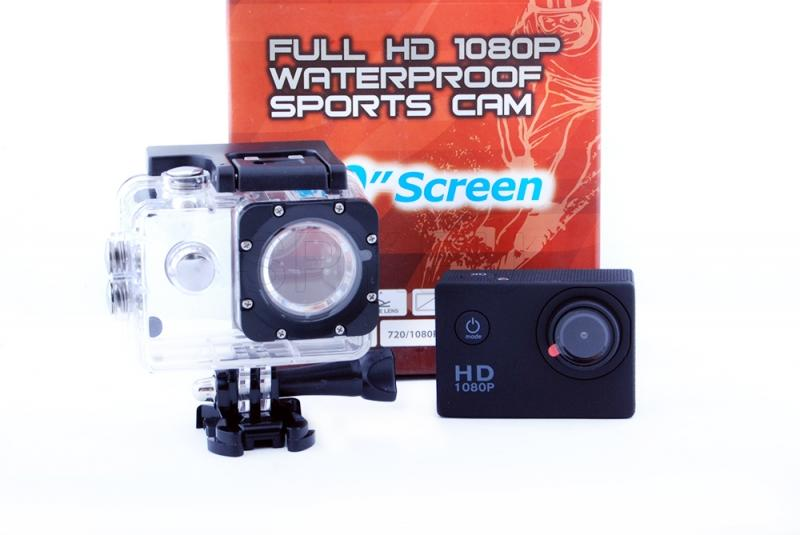 Airtight sports camera with 1.5 inch display