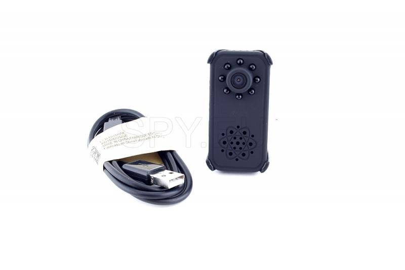Mini camera with diodes for night vision and motion detector