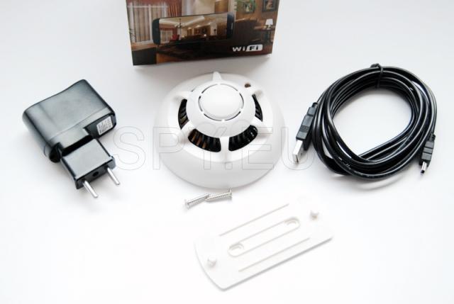 Wi-Fi camera in a smoke detector